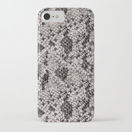 Black and Gray Snake Skin iPhone Case