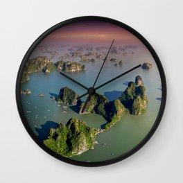 Limestones rock of Ha Long Bay in Vietnam Wall Clock