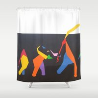 elephants Shower Curtains featuring Elephants by Annemiek Boonstra