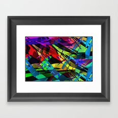 Color splinter in the abstract. Framed Art Print