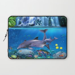The Dolphin Family Laptop Sleeve