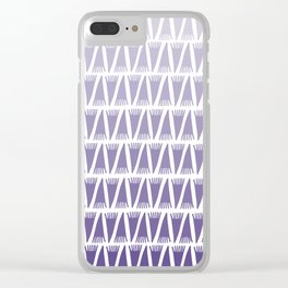 Tee Pee Gradient Ultra Violet Clear iPhone Case