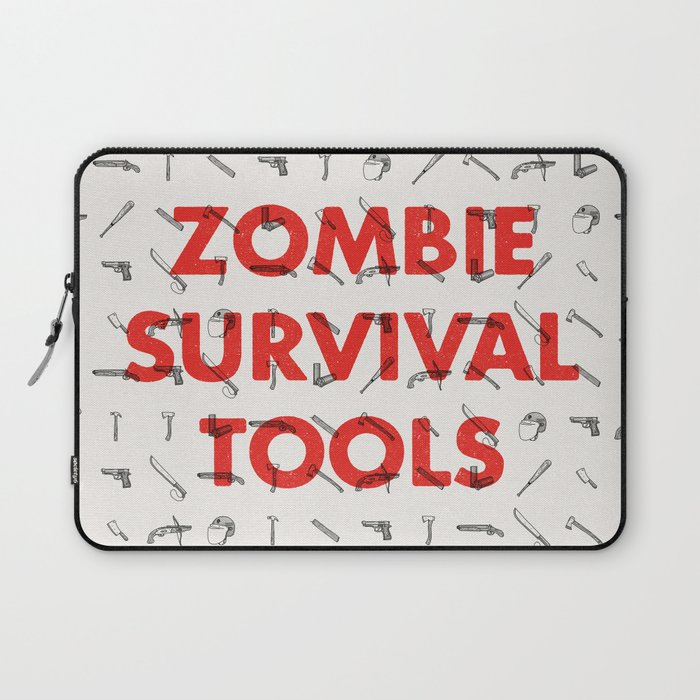 Zombie Survival Tools - Pattern 'o tools Laptop Sleeve
