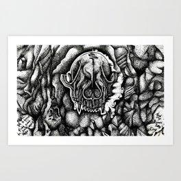 Black and Bone Dry Art Print