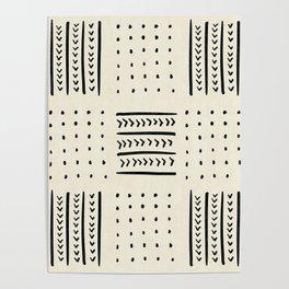 Mud Cloth in Cream Poster