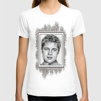 brad pitt T-shirts featuring Brad Pitt in 2006 by JMcCombie