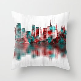 Milan Italy Skyline Throw Pillow