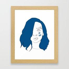Cry baby vector portrait Framed Art Print