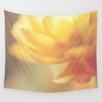 chinese Wall Tapestries featuring Chinese Rose by Katayoon Photography & Design