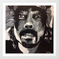 dave grohl Art Prints featuring Dave Grohl by Matt Hortop