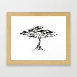 Whistling Thorn , Zen Bonsai African Tree Framed Art Print