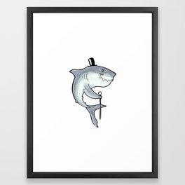 PSC Great White Shark Framed Art Print