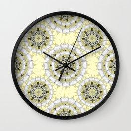 Lemon Pie Mandala Pattern Wall Clock