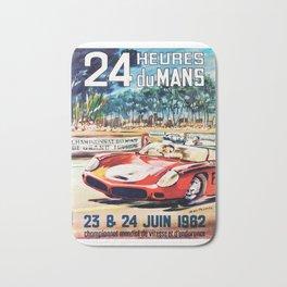 Le Mans poster, 1962, vintage poster, t-shirt, race poster Bath Mat