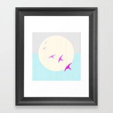 Flying into the Sunset Framed Art Print