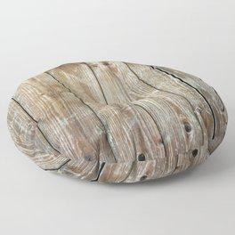 Rustic Wooden Plank Texture Floor Pillow