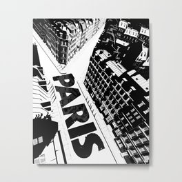 Cities in Black - Paris Metal Print