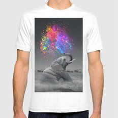 True Colors Within White Mens Fitted Tee MEDIUM