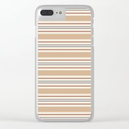 Cavern Clay SW 7701 Horizontal Line Pattern 6 and accent colors 2 Clear iPhone Case