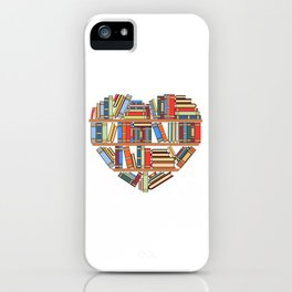 """Hearty Library Books For Amazing People """"Reading Is Lit"""" T-shirt Design Books Library Study Learning iPhone Case"""
