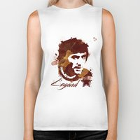 coffe Biker Tanks featuring George Best - coffe stained by Colo Design