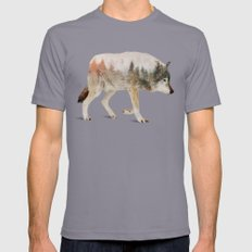 Wolf Slate Mens Fitted Tee MEDIUM