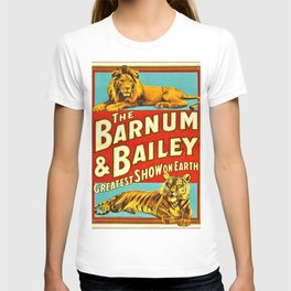 Barnum and Bailey Great Show on Earth - Lion and Tiger Vintage Circus Poster T-shirt