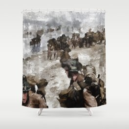 D Day Landings, WWII Shower Curtain