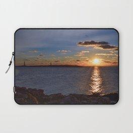 Twin Light Sunrise Laptop Sleeve