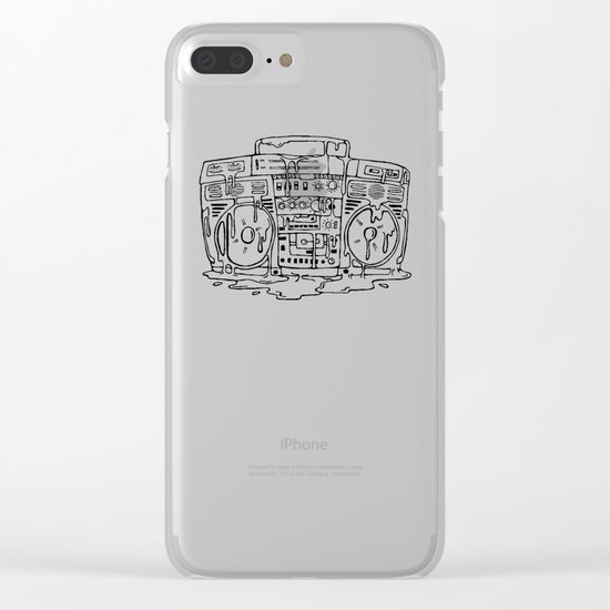 Boombox Clear iPhone Case