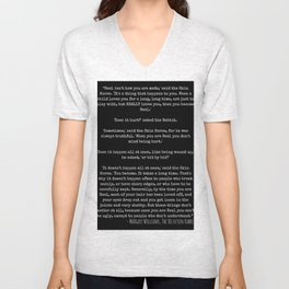 Becoming Real - The Velveteen Rabbit Quote Unisex V-Neck