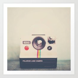 portrait of a polaroid ...  Art Print