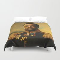 replaceface Duvet Covers featuring will.i.am - replaceface by replaceface