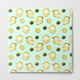 key lime pie pattern // pie lover Metal Print