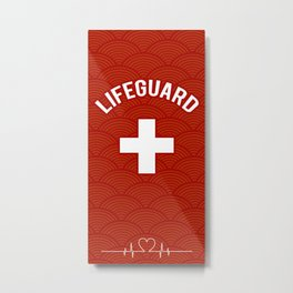 Lifeguard, Life guarding, Coast Guard, Beach , Baywatch Metal Print