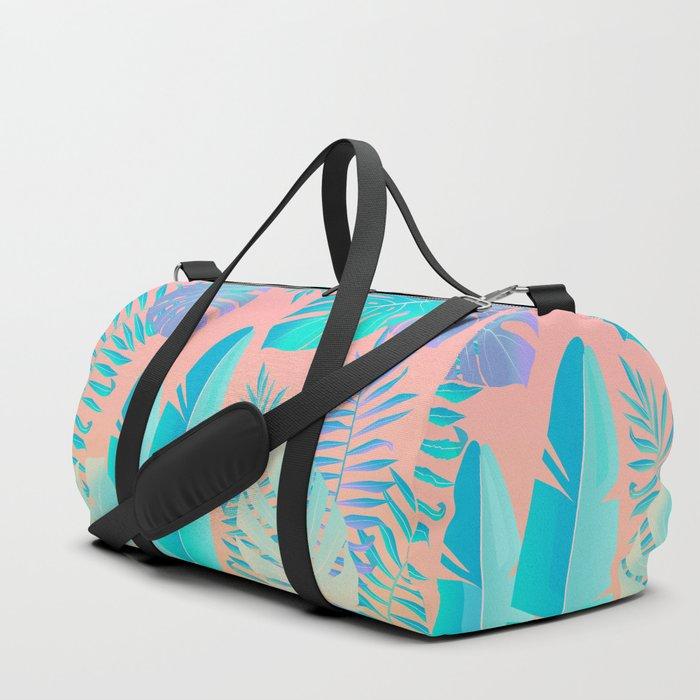 Tropics ( monstera and banana leaf pattern ) Duffle Bag