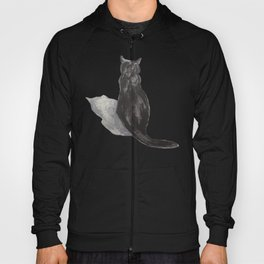 black cat shadow Hoody