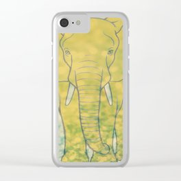 Éléphant d'or Clear iPhone Case