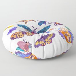 Butterflies Day - bright Floor Pillow