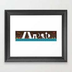 MADRID SKYLINE Framed Art Print