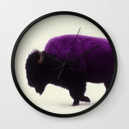 Purple Buffalo Wall Clock