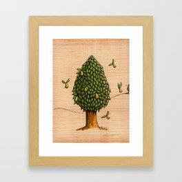 Wings On Pears Tree - coloured Framed Art Print