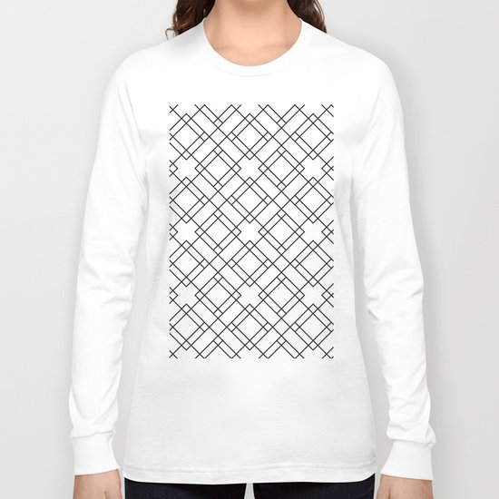 Simply Mod Diamond Black and White Long Sleeve T-shirt