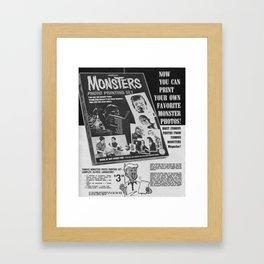 Printable Monsters Framed Art Print