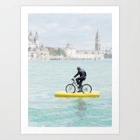 A bike ride Art Print