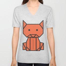 Origami Cat Unisex V-Neck