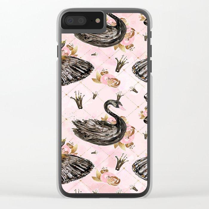 Black swans ballerina #1 Clear iPhone Case