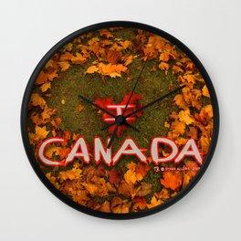 I Love Canada (Heart of Autumn) Wall Clock