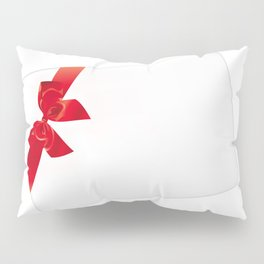 Card with red bow Pillow Sham