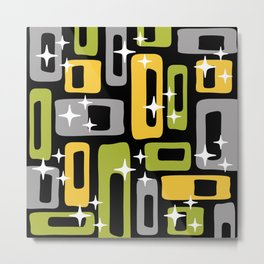 Retro Mid Century Modern Abstract Pattern 617 Metal Print